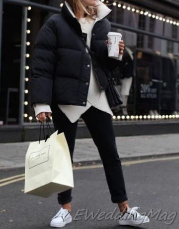 19 Adorable Warm Outfits For Weekend on Winter