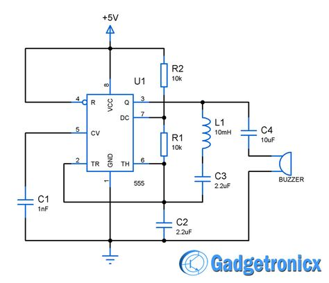 Building a simple metal detector circuit using IC 555 and buzzer - ics organizational chart