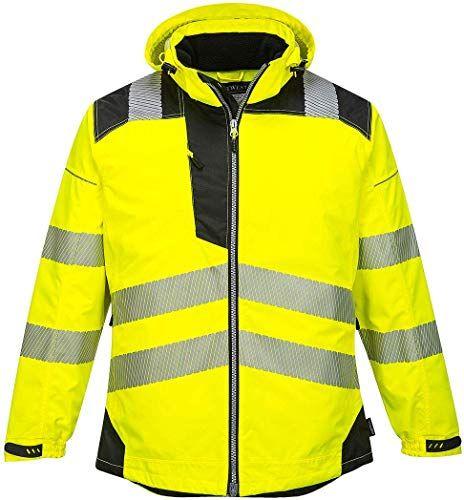 Chic Portwest Pw3 Hi Vis Winter Jacket Work Safety Protective Reflective Waterproof Coat Ansi 3 Mens Coats Jackets 75 Waterproof Coat Winter Jackets Jackets