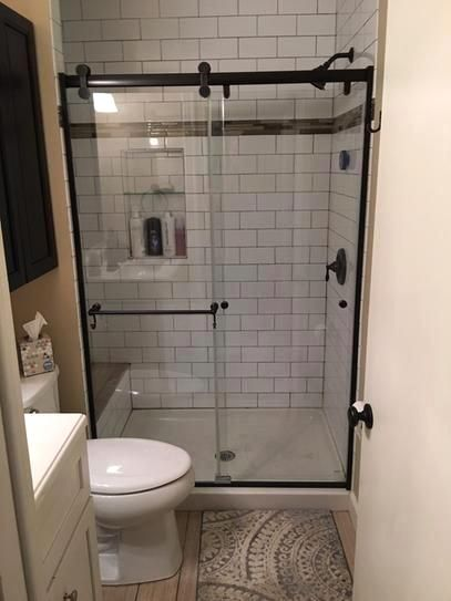 Delta Portman 48 X 71 In Frameless Contemporary Sliding Shower Door In Bronze With Clear Glass Sd2832496 The Home Depot Full Bathroom Remodel Bathrooms Remodel Bathroom Remodel Master