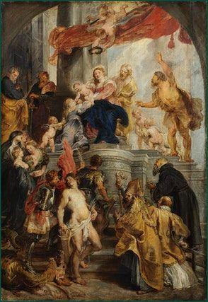 Peter Paul Rubens Thronende Madonna Mit Dem Kind Von Heiligen Verehrt Virgin Enthroned And Child Adored By Saints Peter Paul Rubens Rubens Paintings Rubens