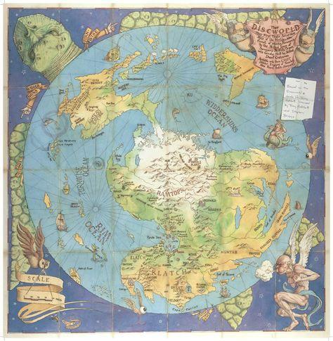 Map Of Terry Pratchett S Discworld Fantasie Karte Maya Kalender