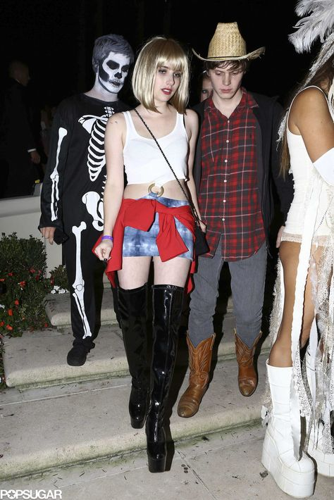 60 Supersexy Celebrity Halloween Costumes Emma Roberts donned her aunt Julia's Pretty Woman outfit in