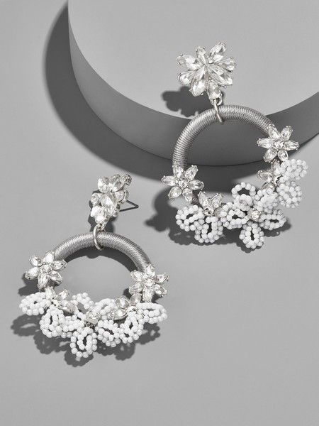Snowflower Drop Earrings - Statement Earrings to Spice Up Any Outfit - Photos