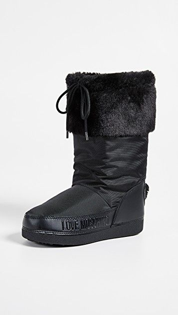 Love Moschino Snow Boots with Sequin Hearts | Boots, Moon