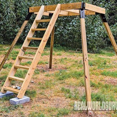 Stay high, dry, warm and ready to hunt in a comfortable DIY buck tower that you .-- Stay high, dry, warm and ready to hunt in a comfortable DIY buck tower that you can make with a friend in just a few easy steps.