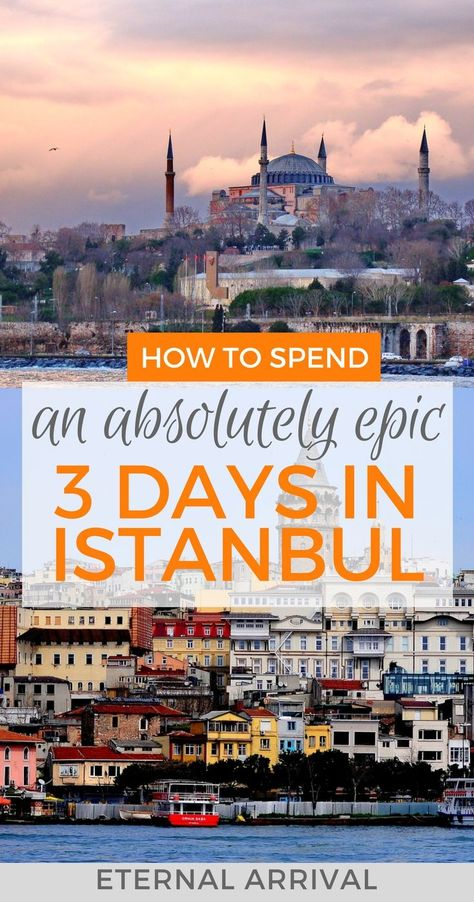 Only got 3 days to discover the best of Istanbul? I've got your back with this 3 day Istanbul itinerary including the Hagia Sofia, Blue Mosque, Grand Bazaar, and more off the beaten path stuff as well. Check it out and get inspired to visit Turkey's capital