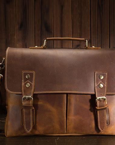 Men/'s Genuine Leather Messenger Sling Bag Laptop Briefcase Bags Handbag
