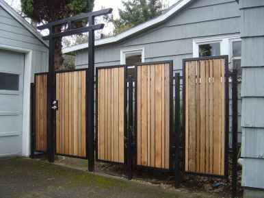 13 Awesome Modern Fences And Gates Design Ideas Fence Design Metal Fence Panels Modern Fence