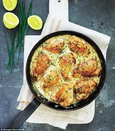 Mary berry Family Sunday Lunches: Lemon chicken with chives | Daily Mail Online