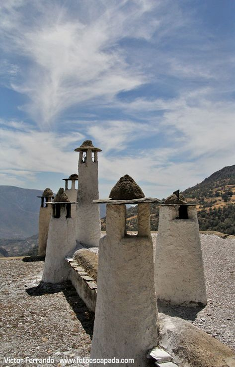 Chimeneas de Capileira, Alpujarras  Granada  Spain