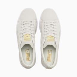 PUMA Suede Classic Metal Badge Trainers in WhiteGold size