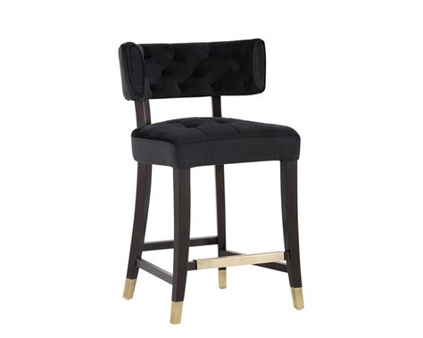 Tatum Counter Stool Piccolo Black Fabric Products Bar And