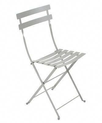Chaise pliante Bistro Métal Gris métal Fermob