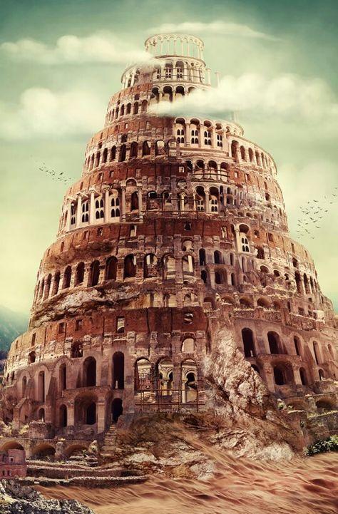 Tower Of Babel Torre De Babel Desenho De Arquitetura Torre