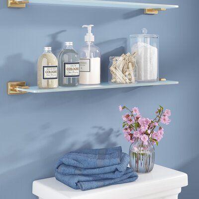 Brayden Studio Gabin Wall Shelf Wall Shelves Glass Shelves Shelves