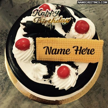 Create Birthday Cake Name Pics Birthday Greetings Pinterest