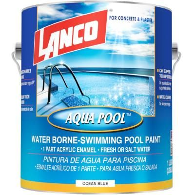 Insl X 1 Gal Semi Gloss Water Aquamarine Swimming Pool Paint Wr1019 The Home Depot Pool Paint Aqua Pools Swimming Pools