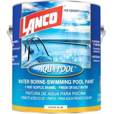 Insl X 1 Gal Semi Gloss Water Aquamarine Swimming Pool Paint Wr1019 The Home Depot Pool Paint Aqua Pools Swimming Pools