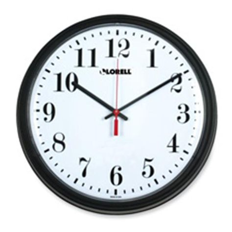 Lorell Llr60989 Wall Clock 13 25in Arabic Numerals Black Frame Atomic Wall Clock Chicago Lighthouse Contemporary Clocks