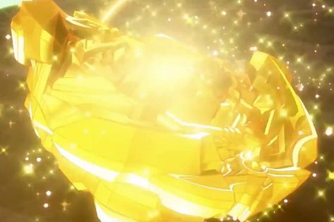 """In episode 27 of Gachi Union Achilles enters into the """"Gold Turbo"""" state during Aiga's battle against Drum and Ace Dragon.The bey becomes completely golden and irradiates a golden aura.The """"Gold Turbo"""" state is a state where beys are able to shine big amounts of golden light and they become even more powerful than before.This is when beys achieve their endless potential."""