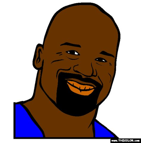 Shaquille o'neal shaq online coloring page anime yisrael How Tall Is Tatum O'Neal Coloring Sheets for Teens Shakel O'Neal