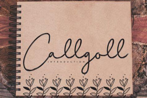 Callgoll (Font) by andikastudio · Creative Fabrica