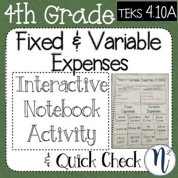 Fixed And Variable Expenses These Interactive Notebook Pages Give Students An Organized Ta Interactive Notebook Activities Interactive Notebooks Math Lessons 4th grade financial literacy worksheets