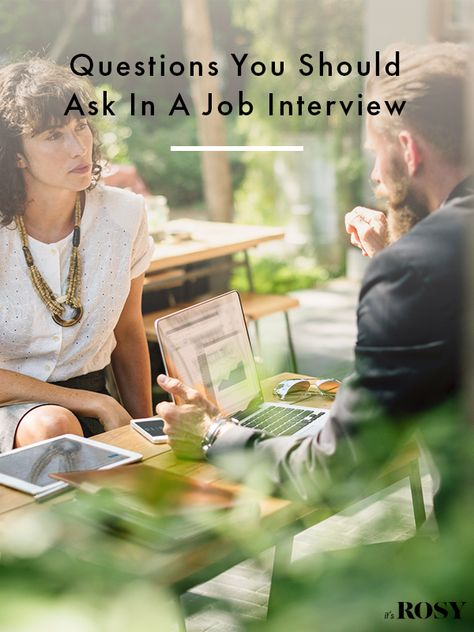 Make sure you ask the right questions in your job interview.