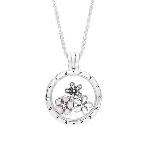 07291b179 PANDORA Poetic Blooms Petites Locket Necklace