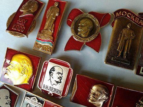 a1b8302697db Lenin Vintage Badges Soviet Union USSR Collection for Sale Russia Communist  Era