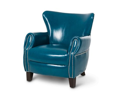 Leather Chair Teal Blue Jacob Furniture With Images