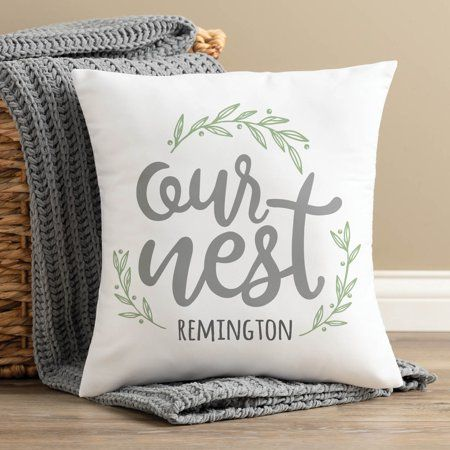 Our Nest Personalized Throw Pillow Walmart Com In 2021 Personalized Throw Pillow Throw Pillows Outdoor Throw Pillows