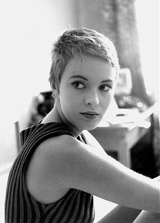 Jean Seberg during the filming of