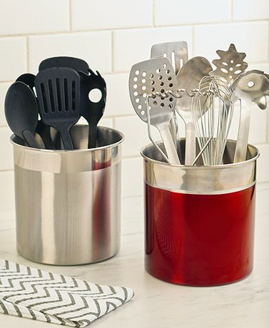 Jumbo Stainless Steel Utensil Crocks With Images Stainless