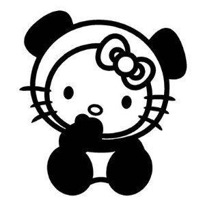 "Hello Kitty Panda Bear Funny Vinyl Decal Car Sticker Window bumper laptop 6/"""