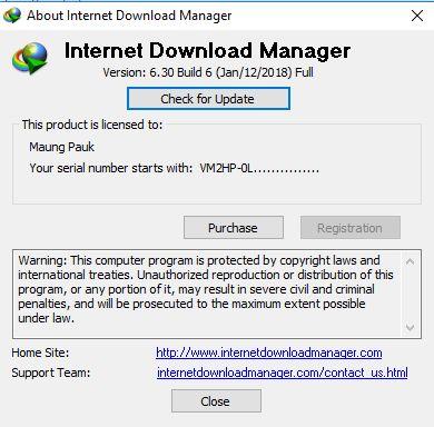 IDM ( Internet Download Manager ) 6 30 Build 6 - မောင်