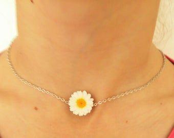 Daisy Necklace Jewelry Polymer Clay Daisy Necklace Birthday Gift!