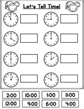 Christmas Math Activities For Kinder And First Grade Christmas Math Kids Math Worksheets Time Worksheets