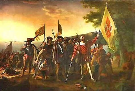 Christopher-Columbus-on-San-Salvador image. Totally History provides easy to und... -  Christopher-Columbus-on-San-Salvador image. Totally History provides easy to understand snippets of - #ChristopherColumbusonSanSalvador #easy #History #Historychannel #Historydesenho #Historystickers #Historyweb #Image #totally #und