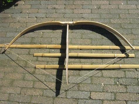 making bamboo backed bamboo bow, builld along   bow   Bows