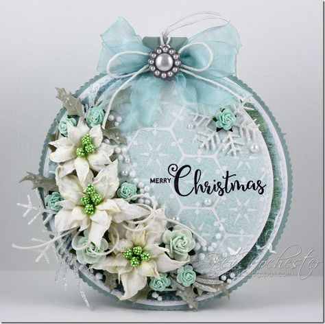 Bauble shaped card