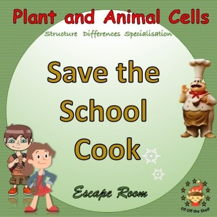 Plant And Animal Cells Structure Differences Specialisation Escape Room Plant And Animal Cells Animal Cell Structure Middle School Cells