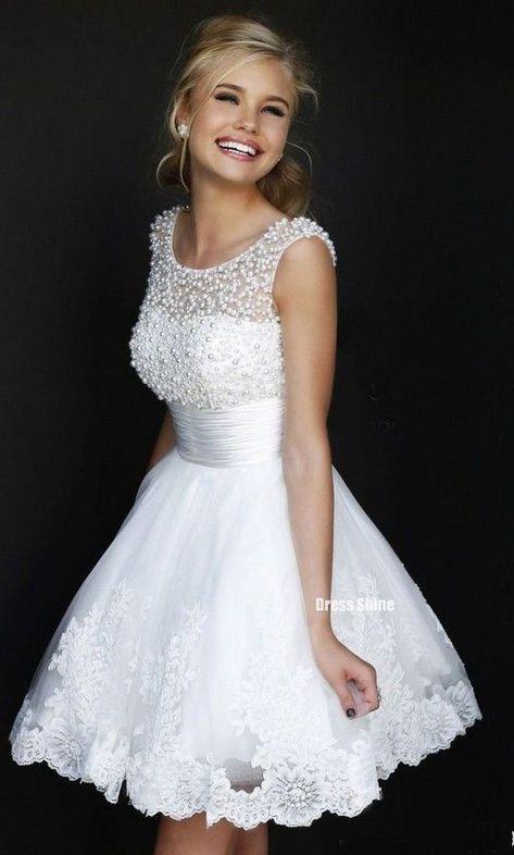 35 Vestidos Cortos De Novia Elegantes Modernos Y Chic