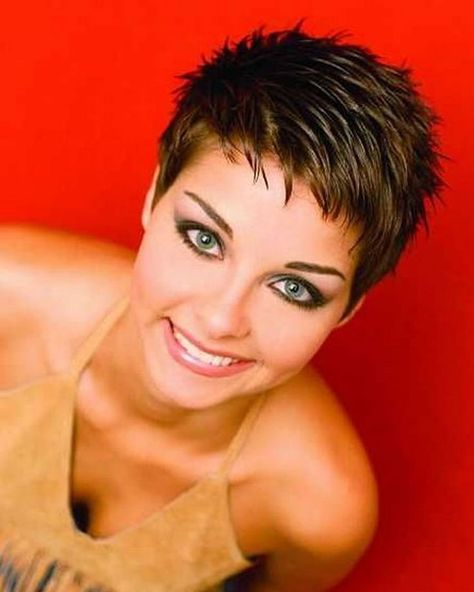 Pixie hairstyles for round face and thin hair 2018  #hairstyles #pixie #round