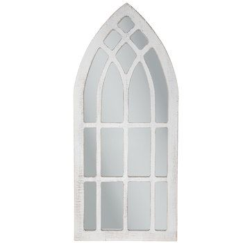 White Cathedral Wood Wall Mirror Hobby Lobby 1664440 In 2020 Wood Wall Mirror Mirror Wall Mirror Wall Living Room