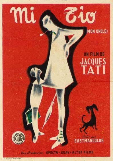 Mi Tío 1958 Mon Oncle De Jacques Tati Tt0050706 Carteles De Cine Cine Frances Cine