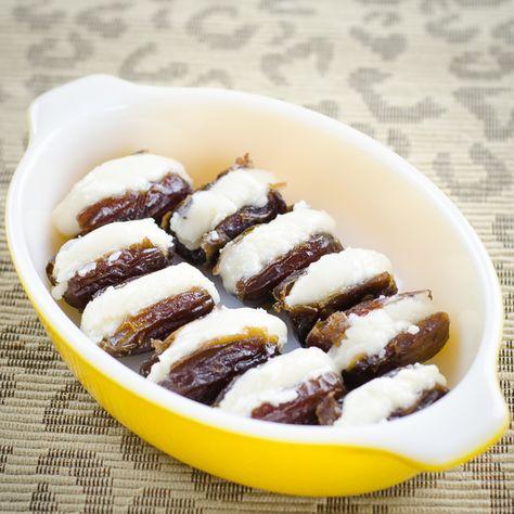 Coconut Butter Stuffed Dates