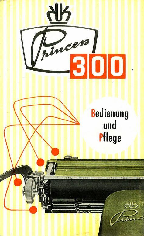 I Scanned An Original German Manual Of The Princess 300 Typewriter