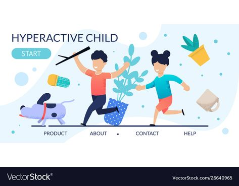 Hyperactive children problem behavior landing page